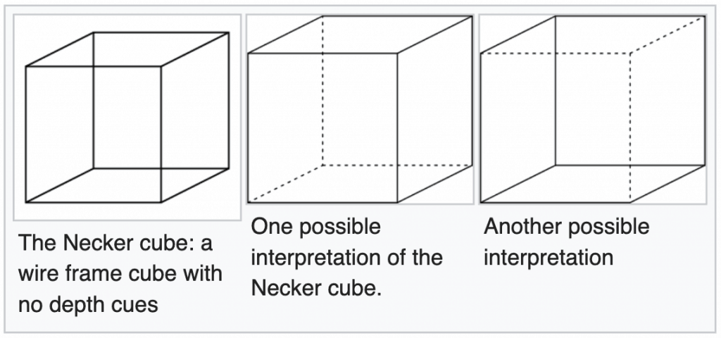 The Necker Cube illusion